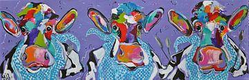 - Drei Kühe beim Schlemmen von Kunstenares Mir Mirthe Kolkman van der Klip