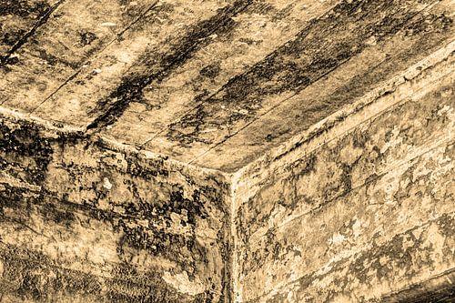 Minimalisme Kunst Fotografie Betonnen Muur Sepia