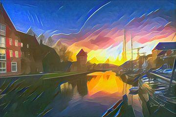 Gemälde Kanal von Zwolle