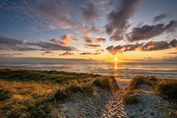 Coucher de soleil sur l'île Sylt sur Achim Thomae
