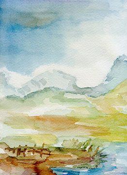 Berglandschaft von Claudia Gründler