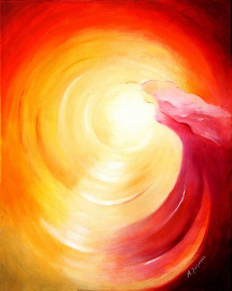 Soul Journey into Light - Angel Art van Marita Zacharias