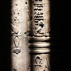 Egyptische hiërogliefen, Luxor van Philip Nijman