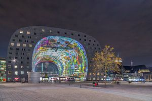 Markthal Rotterdam by night