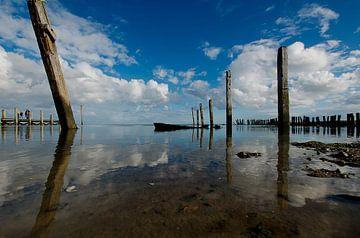 Het haventje van Sil, De Cocksdorp, Texel van Wim van der Geest