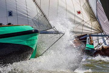 Skûtsjes op het IJsselmeer van ThomasVaer Tom Coehoorn