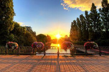 Amsterdam lente zonsopkomst van Dennis van de Water