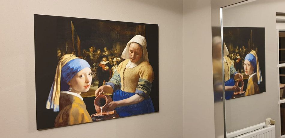Klantfoto: Melkmeisje - Meisje met de parel - de Nachtwacht van Lia Morcus