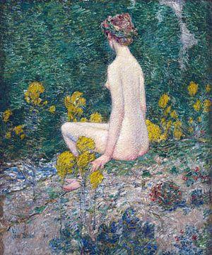 Childe Hassam, Guldenroede, 1908 van Atelier Liesjes
