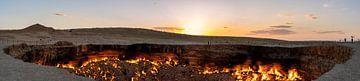 Feuerkrater Derweze in Turkmenistan von Daan Kloeg