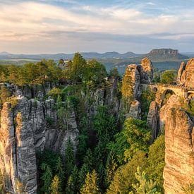 Bastei en Suisse saxonne Panorama sur Michael Valjak