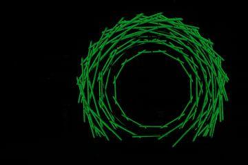 Nest licht kunst groen van Saskia Hoks