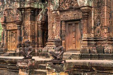 Banteay Srei, région d'Angkor, Cambodge sur Peter Schickert