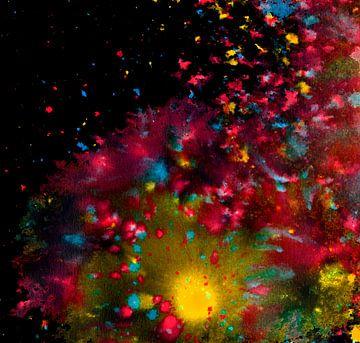 spatten van kleur van Achim Prill