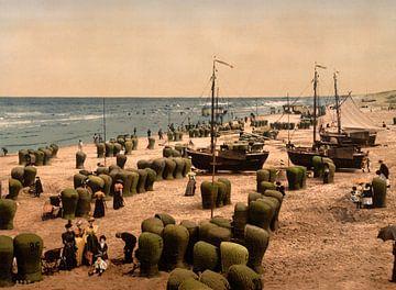 Strand van Scheveningen sur Vintage Afbeeldingen