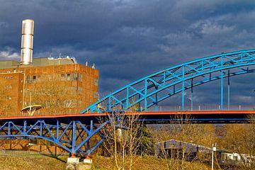 Brücke am Yachthafen in Duisburg-Ruhrort (7-62663) von Franz Walter