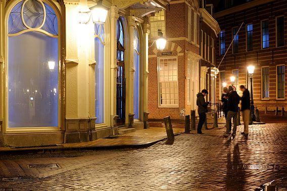 Pausdambrug met kopgebouw Trans 10 in Utrecht van Donker Utrecht