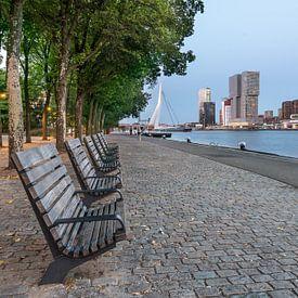 Rotterdam Kop van zuid (blauwe uurtje) van Erik van 't Hof