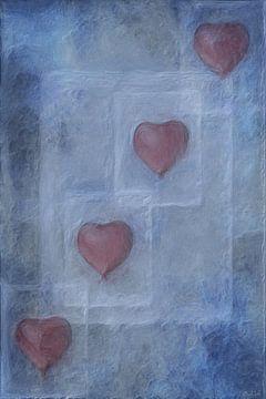 Heart in Quadrat van Katz MatzArt