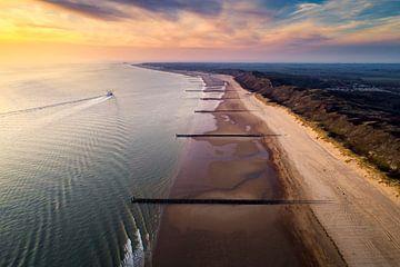 De Zeeuwse Kust - Strand van Dishoek & Domburg von Vincent Fennis