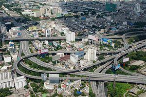 Snelweg knooppunt in Bangkok, Thailand
