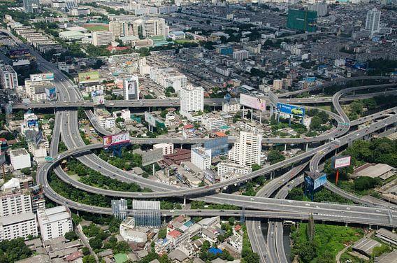 Snelweg knooppunt in Bangkok, Thailand van Maurice Verschuur