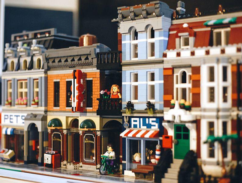 Lego stad van Lego poppetje