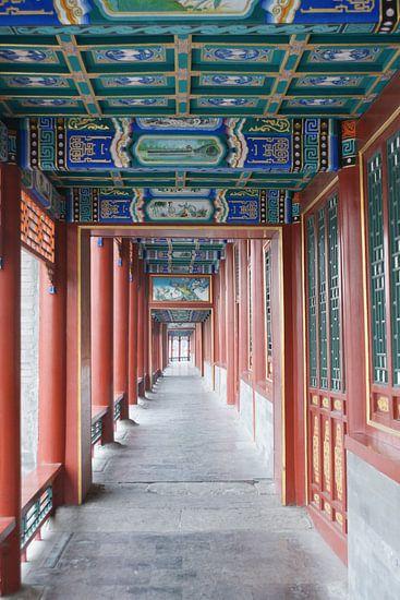 Lange Corridor Kunstwerken Koninklijke Parken Beijing Gang