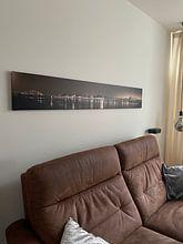 Kundenfoto: Panoramafoto Nijmegen sepia von Henk Kersten, auf leinwand