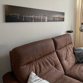 Klantfoto: Panoramafoto Nijmegen 2021 van Henk Kersten, op canvas