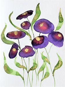Paarse bloemen