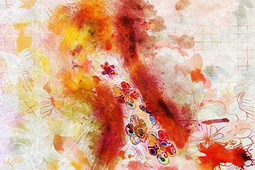 Florales Porträt im Profil von Arjen Roos