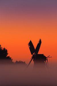 Sunrise windmill Langelandster