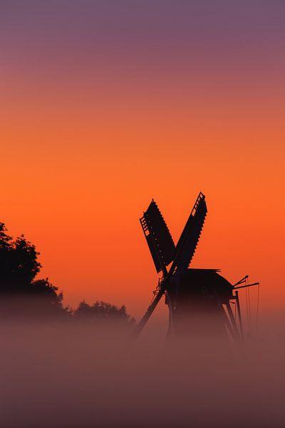 Sunrise windmill Langelandster van Henk Meijer Photography