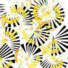 Wirbelnde Blüten mit Fächer van Rosi Lorz thumbnail