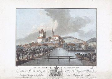 Ansicht von Thun von Süden, Jean François Janinet, 1762 - 1785 von Atelier Liesjes