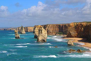 De Twaalf Apostelen - rotsformaties op de Grote Oceaanweg in Australië van Ines Porada