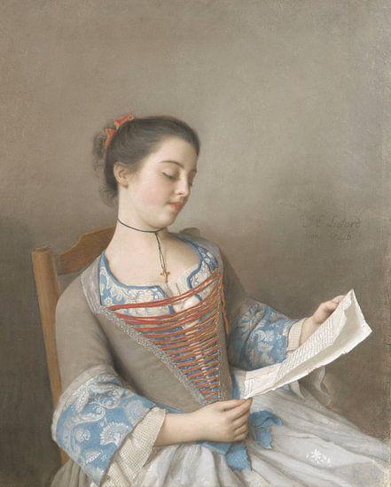 Marianne Lavergne, nicht van de kunstenaar, bekent als 'La Liseuse', Jean-Etienne Liotard