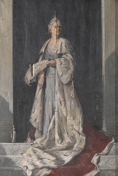 Porträt von Wilhelmina der Königin der Niederlande, Unbekannter Künstler