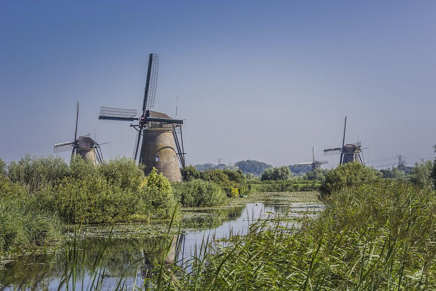 Molens bij Kinderdijk van hans van dorp