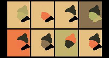 Acht mutsen van AtelierMindYourHead