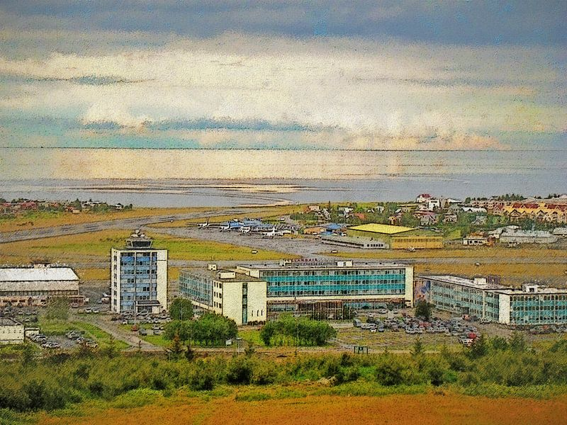 Zomer in Vatnsmyri, IJsland van Frans Blok