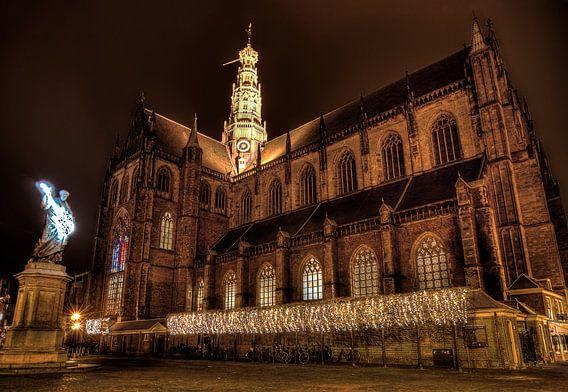 Haarlem at night tijdens Gitaarlem serious request 2014 van Wouter Sikkema