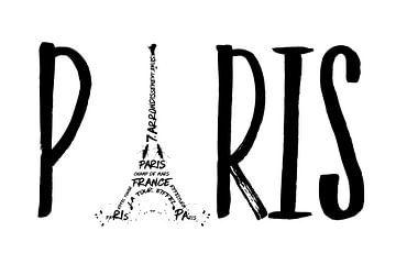PARIS Typografie von Melanie Viola