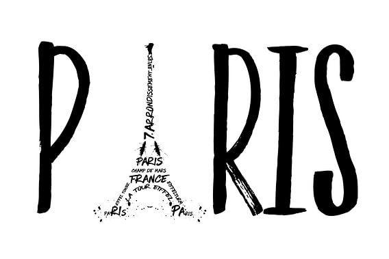 PARIS Typografie