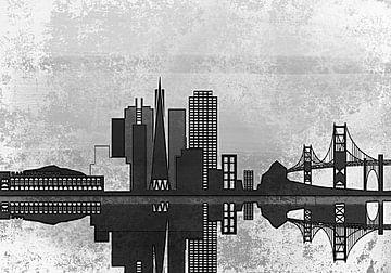 City skyline San Francisco van PictureWork - Digital artist