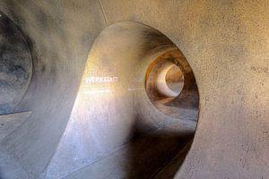 Spirale einer Keller-Passage Urbex-Standort in Deutschland