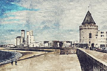 De boulevard en de gevangentoren van Vlissingen (Zeeland) (kunstwerk) van