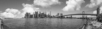 Panorama foto van downtown Manhattan van Ivo de Rooij
