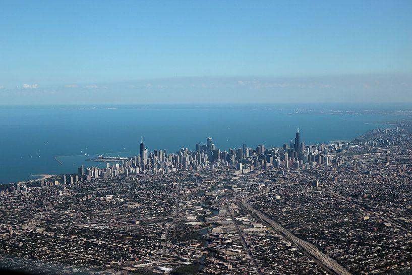 Chicago met John Hancock Center en Willis Tower van Henk Poelarends